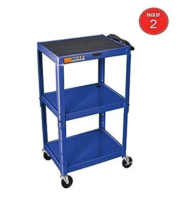 H Wilson Metal 3 Shelf Presentation Cart