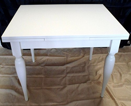 Legno&Design Table rectangulaire extensible blanc laqué