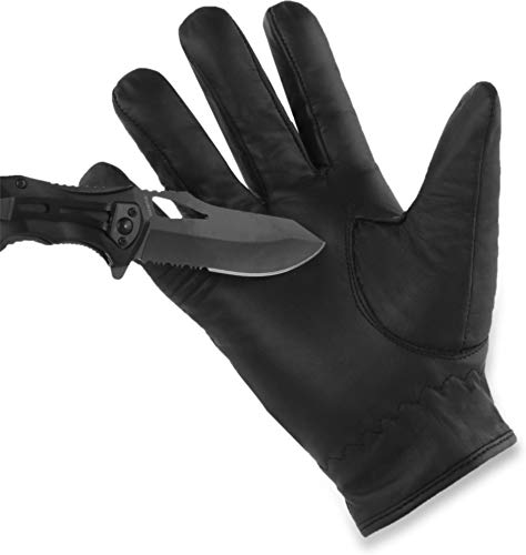 normani Schnittschutz Security Polzei Handschuhe mit Quarzsandfüllung und Kevlar Innenmaterial - auch in Übergröße [XS-5XL] Größe 3XL