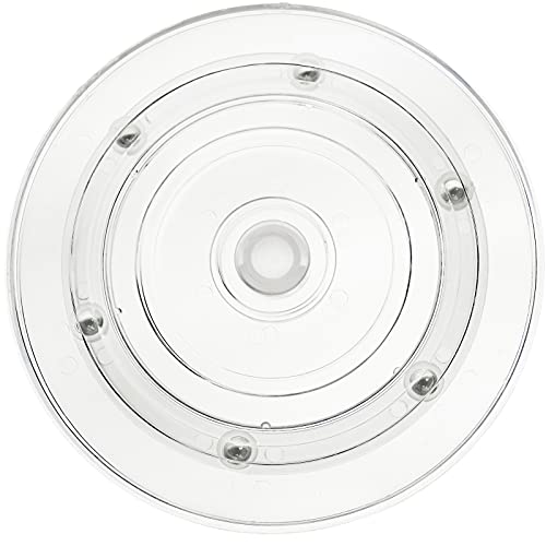 PrimeMatik - Manuelle rotierende drehteller 15 cm transparent