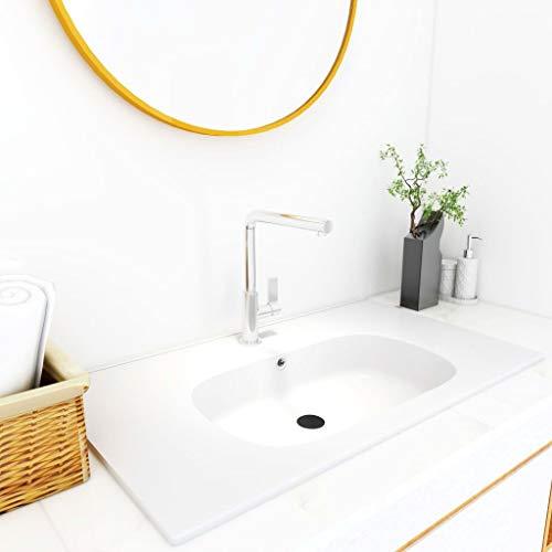 Waschtisch Waschbecken Waschtisch Waschtisch Waschbecken Badezimmer Waschbecken Einbauwaschbecken 805x460x105mm SMC Weiß