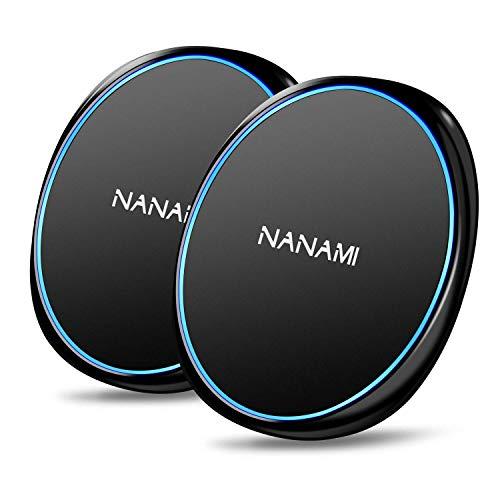 NANAMI ワイヤレス充電器 (2台セット) Qi急速 USB Type-C端子 15W/10W/7.5W出力 iPhone 12/12 Pro/SE2 /11 / 11 Pro / Xs / XR / Xs Max / X / 8 / 8 Plus、 AirPods2 / AriPods Pro、Galaxy S21/S20/S10/S10+/S9/S9+/S8/S8+/Note10/ Note 9 など Xperia1 Ⅱ 他のQi機種対応 Quick Charge 2.0/3.0 ワイヤレスチャージャー 置くだけ充電 日本語取扱説明書付 敬老の日ギフト ブラック