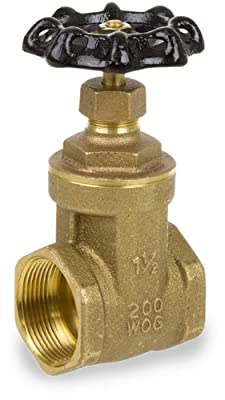 "Smith-Cooper International 8501L Series Brass Gate Valve, Potable Water Service, Non-Rising Stem, Inline, 1/2"" NPT Female from Smith-Cooper International"