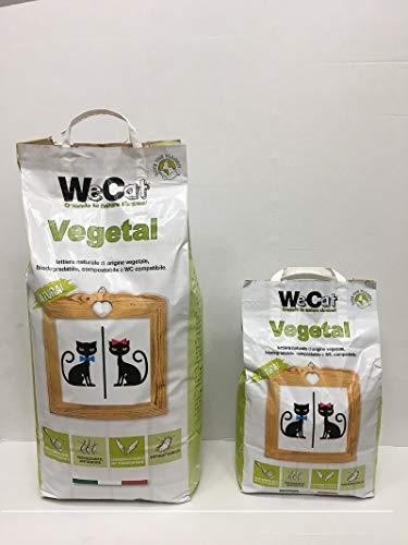 WeCat Mais Lettiera Gatti Agglomerante Vegetale 1 Sacchetto da 10 kg Novita'