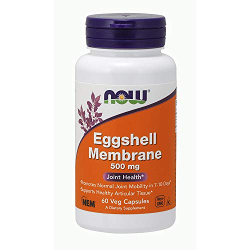 NOW Foods Supplements  Eggshell Membrane (A Unique Biological Matrix Composed of Major Joint Constituents) 500 mg  60 Veg Capsules