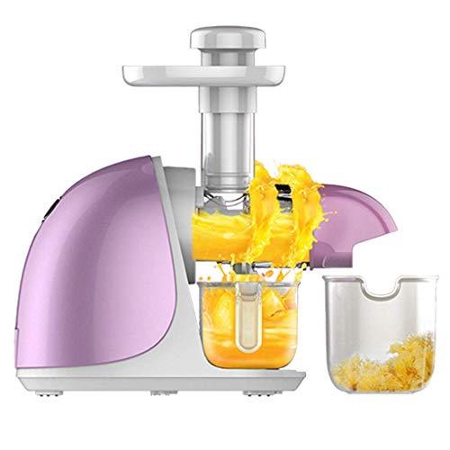 Qinmo Juicer Maschinen, Net Porzellan Screw Juice Machine, Startseite Automatische Antioxidant Obst und Gemüse Entsafter - Lila, 150w, High-End-Intelligence Xping