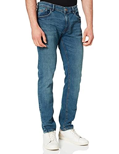Springfield Jeans Skinny Lavado Medio ensuciado Pantalones, Turquesa, 34