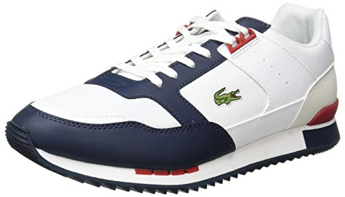 Lacoste Partner Piste 01201 SMA, Zapatillas para Hombre, Blanc Wht Nvy, 42 EU