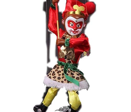 Sparik Enjoy Monkey King Hand Marionette Puppet with LED Eye and Sound Children's Marionette Toys Colorful Marionette Puppet Doll Parent-Child Interactive Toys