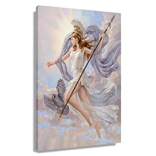 CXYZDY Greek Mythology Goddess Athena Poster Kit for Wall Canvas Art for Living Room Printing Pictures Canvas Artwork for Office Decor for Bedroom Modern Christmas Decorations Giclee Oil Painting (12x18inch(30x45cm),Unframed)