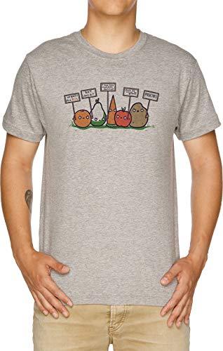 Yo Odio Los Veganos Camiseta Hombre Gris