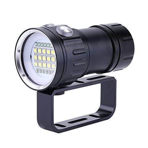 Luz De Buceo 80M,Linterna LED Para Video Submarino Luz De Relleno De Alta Potencia, Impermeable IPX8,iluminación Para Fotografía ⭐