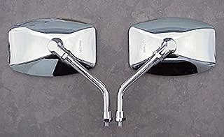 i5 Chrome BIG Mirrors to fit Honda Kawasaki & Suzuki 10mm Handlebar Mount