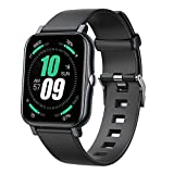 Smart Watch, Large 1.7inch Full HD Touch Screen Fitness Tracker with Heart Rate Monitor Blood Oxygen Meter, Body Temperature Thermometer Waterproof Step Counter Running Watch Smart Band for Men Women