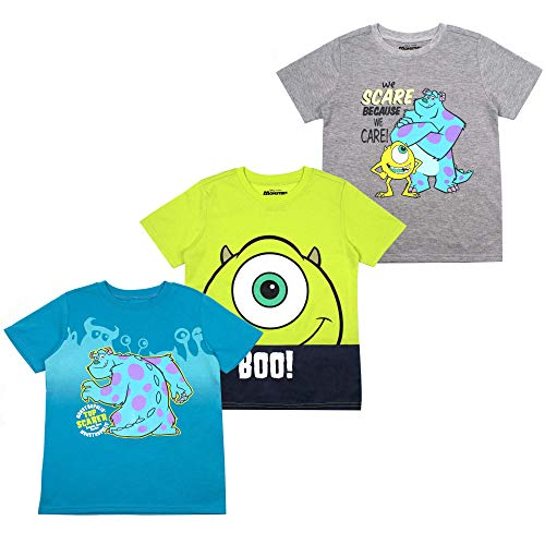 Disney Monsters Inc. Toddler Boys' T-Shirt (Pack of 3) 2T Grey