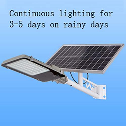 DCV 300W,400W,500W Solar-Straßenleuchte LED Straßenlampe Wasserdicht IP65 Außenleuchte Wegleuchte Intelligente Lichtsteuerung Fernbedienung Für Garten Garage Auffahrt Pfad Hof Balkon,400W