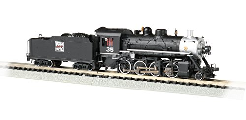 Bachmann Trains Baldwin 2-8-0 DCC Sound Value Econami Equipped Locomotive - Western Pacific #35 - N Scale, prototypical Black with Silver Boiler Front