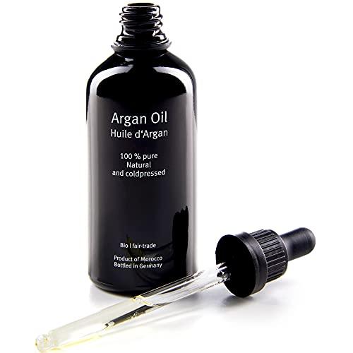 Black Garden Kosmetik - Arganöl | 100ml | 100{94f821d5ea584fc93543eda91d382a54f19069ceff0e4d3d6c614c1b544f7fe6} Argan Öl ohne chemische Zusätze | perfekt für Haare & Haut | Regenerierendes Haaröl & Gesichtsöl