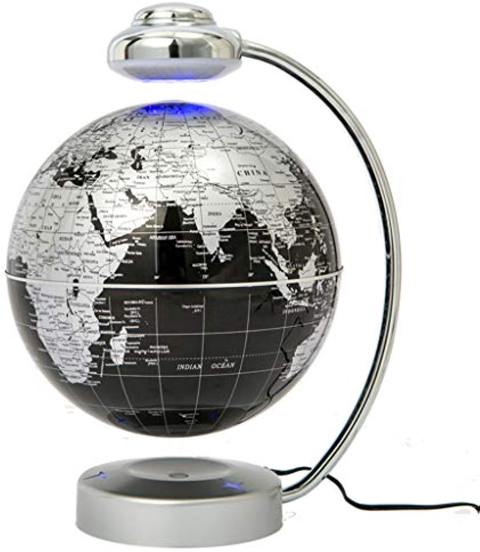 Magnetschwebebahn Floating World Map Globe, drehende Erdkugel Ball Anti Schwerkraft LED Licht Lampe-pdagogische Geschenke für Kinder, Home Office Schreibtisch Dekoration