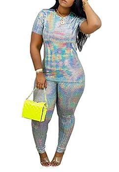 Best two piece sequin pants set Reviews