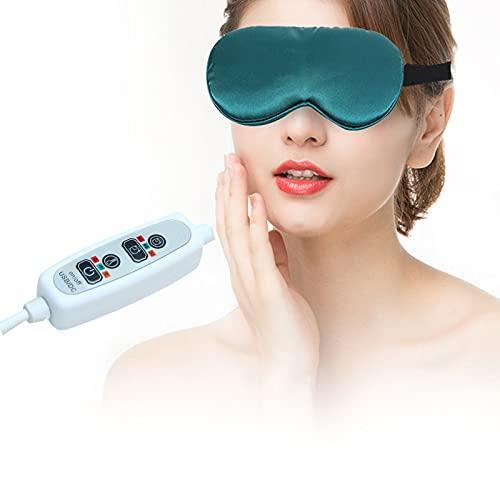 Beheizte Augenmaske, elektrische USB-Schlafmaske mit Temperatur- und Timer-Steuerung, 3 Wärmeeinstellungen, zur Mittagspause, Reisen, müde Augen