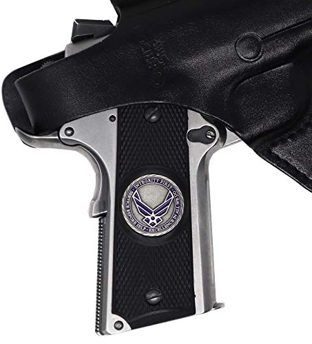 Best Review Of Garrison Grip 1911 Colt Full Size and Clones with US AIR Force Pewter Medallion Set (...