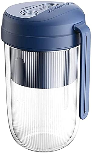 vfrt Home USB Mini jugo, máquina de licuadora portátil, diseño recargable, procesador de alimentos portátil, licuadora personal (color azul)