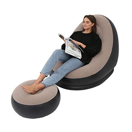 ZIYEWAN Canapé gonflable floqué simple confortable simple sieste inclinable chaise portable peut être utilisé pour le jardin, la plage, les voyages et le camping pique-nique