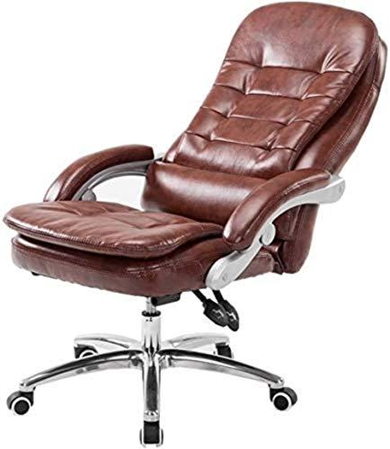 JCXOZ-sedia da ufficio Chair Cuoio regolabile Altezza sedia ufficio schienale alto 135 ° Inclinazione sedie doppio ammortizzatore di sede di cuscinetto di peso 150kg adatto for la casa Office Desk Sed