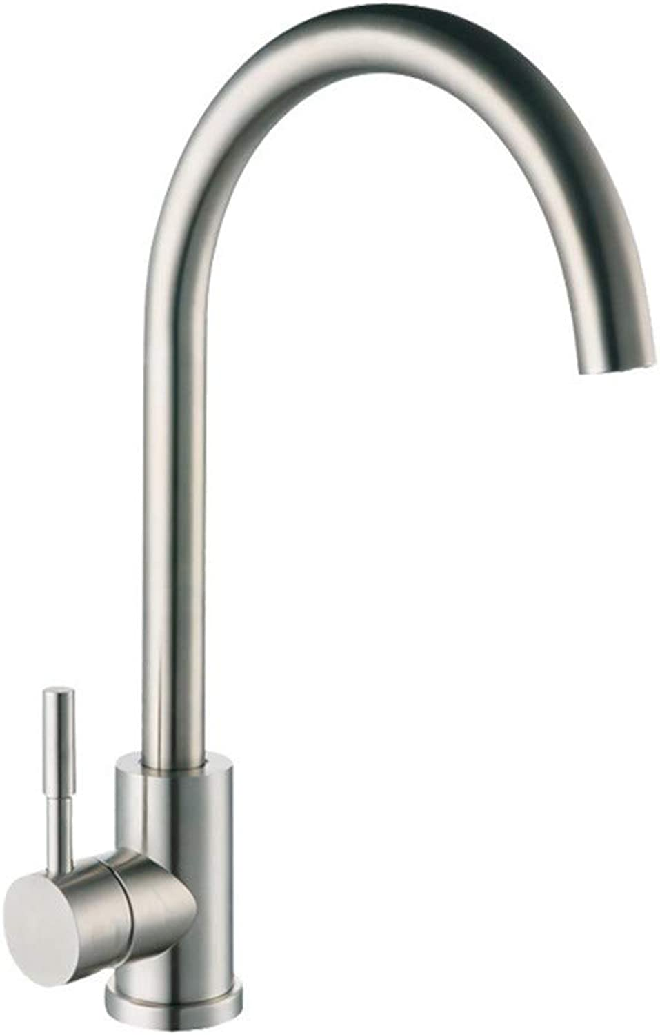 G-FT Hot and Cold Water tap Brass Faucet Stainless Steel Faucet Stainless Steel Dish hot and Cold Water Faucet 304 Lead-Free Water Mixing Sink Kitchen Faucet