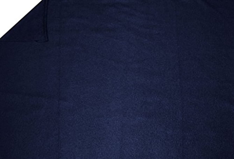 LA Linen Polar Fleece Fabric, 1.5-Yard by 58-Inch, Navy Blue