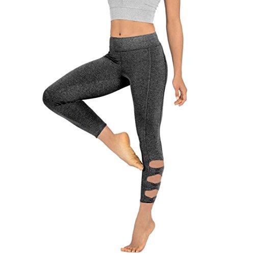 Yoga Pantalons Femme, Pantalon Leggings de Sport, de Fitness Femme Gym Running Yoga Athletic élastique intérieur extérieur by Xinantime