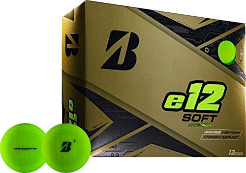 Bridgestone Golf E12 Soft Matte Lot de 12 balles pour Homme Vert