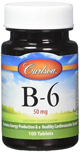 Carlson Labs Vitamin B-6, 50 mg - 100 tabs, 1er Pack(1 x 60 g)