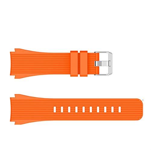 Sport Soft Silicone Pulsera de pulsera para Samsung Galaxy Watch 46mm Reemplazo de reemplazo Smart Watch Strap Strap Wristband Wamkband *4* (Band Color : Orange, Band Width : For Galaxy Watch46mm)