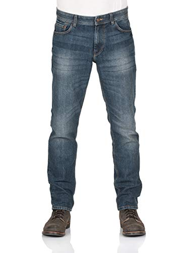 TOM TAILOR Herren Jeans Marvin - Straight Fit - Blau - Mid Stone Wash Denim, Größe:W 36 L 36, Farbe:Mid Stone Wash (10281)