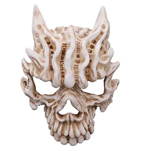 Máscara de cráneo Ghost Rider de resin Skeleton Scary, má