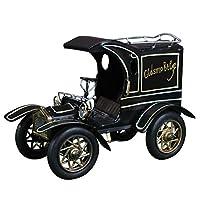 レトロカーモデル レトロな錫の古典的な車の装飾車のモデルバーの家の装飾窓の装飾 玩具装飾品 (Color : Black, Size : 25x13x17.5cm)