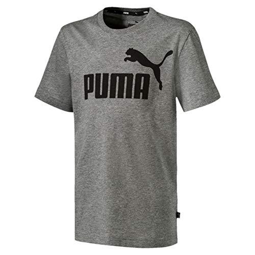 PUMA Jungen ESS Logo B T-shirt ESS Logo Tee B-852542, Medium Gray Heather, 164 (Herstellergröße: 14 ans)