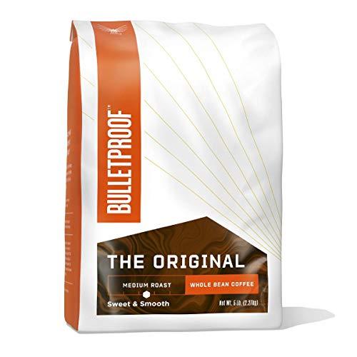 The Original Whole Bean Coffee, Medium Roast, Bulk 80 Oz, Bulletproof Keto Friendly 100% Arabica Coffee, Certified Clean Coffee, Rainforest Alliance, Sourced from Guatemala, Colombia & El Salvador