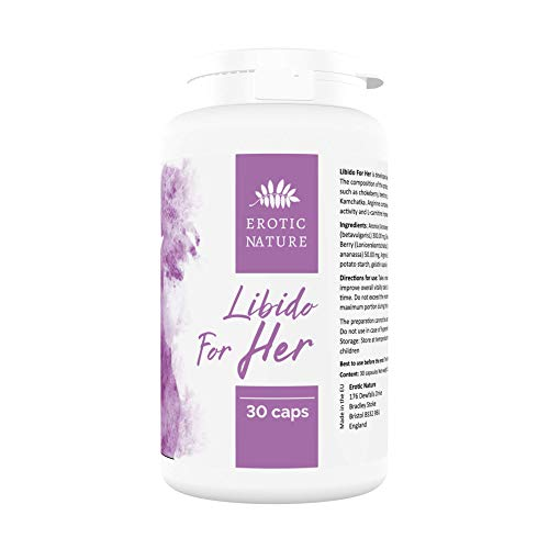 EroticNature Libido Support Tablets for Women, 30 Natural Female Booster Pills
