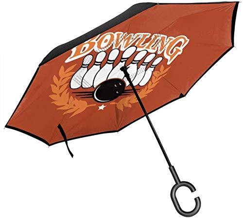 Bowlingkugel-Rückseiten-Regenschutz-Auto-Rückseiten-Regenschirme