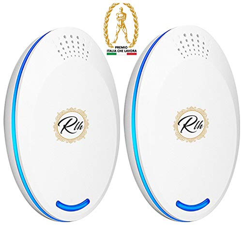 Rinascimento Luxury Home Antizanzare Ultrasuoni Repellente Elettrico con Lampada per Topi Zanzare Mosche Formiche Addio Piastrine Spray