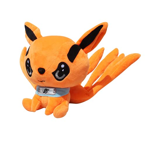 Naruto Anime Carácter Acción FigureModel Doll Q Edition Figura de acción Kurama Regalo de juguete decorativo de peluche para niños y niña 25cm