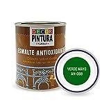 Pintura Verde Mayo Antioxidante Exterior para Metal minio Pinturas Esmalte Antioxido para galvanizado, hierro, forja, barandilla, chapa para interiores y exteriores - Lata 750ml