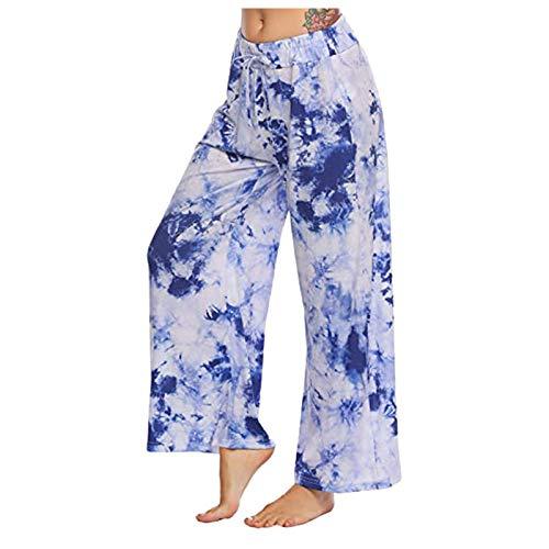 Dasongff Schlafanzughosen für Damen Lang Schlafanzug Pyjama Hose Pyjamahosen Soft Nachtwäsche Hose Karierte Schlafhose Bottoms mit Elastischer Taille Freizeithose