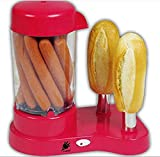 J-jati Hot Dog maker,Hot Dog and bun toaster, Steam Hot Dogs, Bun Toaster, Steams, Warms, and Cooks Hot Dogs and Buns at the same time, Enjoy Fresh Hot Dogs without the Cold Buns with the J-Jati Hot Dog maker and bun toaster