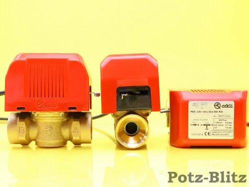 Orkli - Válvula de zona de 2 vías para calefacción (roscado interior de 1