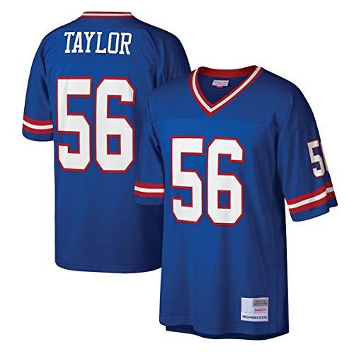 WOPOO Maillots de entrenamiento de fútbol americano NO.56 Legacy Replica Jersey de secado rápido para hombre, color azul