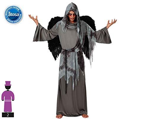 Atosa 14936 Disfraz angel  negro adulto M-L, talla hombre